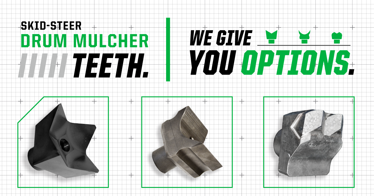 Mulching Teeth Options
