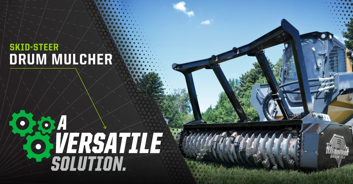 Skid-Steer Drum Mulcher Versatility